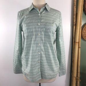 Caslon Womens Button Front Shirt Top - NEW